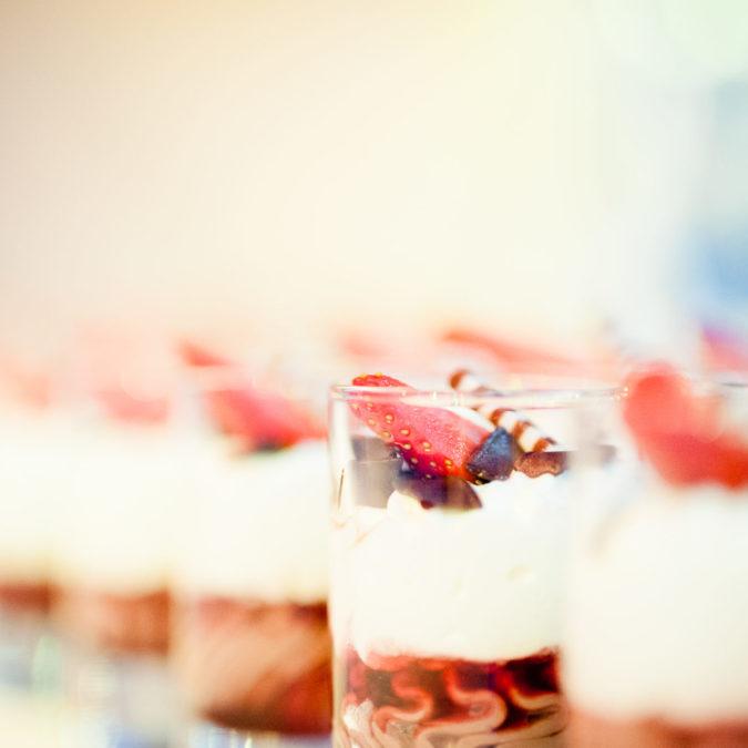 Detailaufnahme Dessert